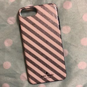 Kate Spade glitter iPhone 7 plus/8 plus Case
